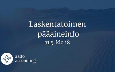 (PAST) Accounting Major Night 11th of May at 6 pm